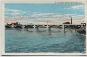 Main-Street-Bridge-Mankato-Minnesota-Pre-Linen-Postcard