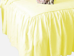 CHOOSE SIZE /& DROP LENGTH SOLID WHITE DUST RUFFLE BED SKIRT 100/% COTTON 1000TC