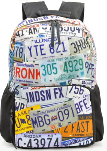 Everyday Deal Plate Numbers Unisex Printed Casual Backpack