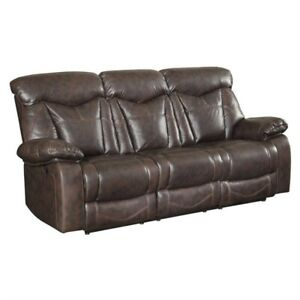 Super Details About Coaster Zimmerman Faux Leather Motion Reclining Sofa In Dark Brown Interior Design Ideas Pimpapslepicentreinfo