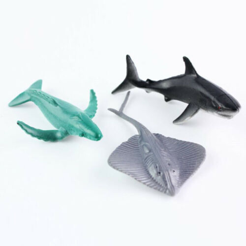 24PCS Plastic Figure Ocean Animals Sea Creatures Dolphin Turtle Whale Shark Toys