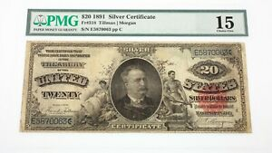 1891-Silver-Certificate-Graded-by-PMG-as-Choice-Fine-15-Fr-318