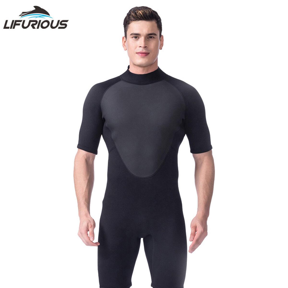 3mm Neoprene Men's Short Wetsuit Diving Swimming Surf  Split Suit Spearfishing  a lot of surprises