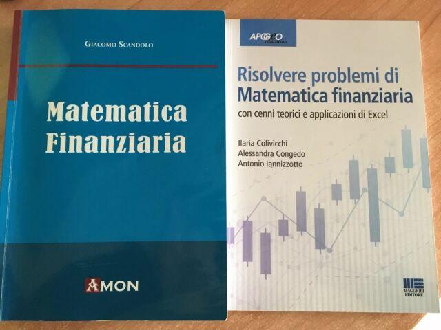 Matematica Finanziaria, Giacomo Scandolo, Amon + Eserciziario