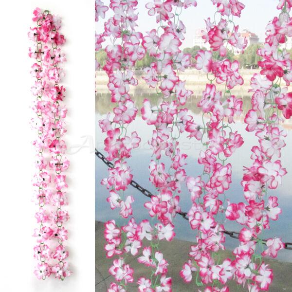 Ghirlanda AZALEA Artificiali Finti Fiori 2mt Rosa Decora Caffetteria Restaurante