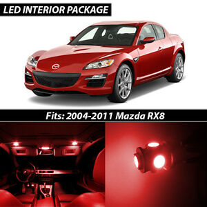 2004-2011 Mazda RX-8 Red Interior LED Lights Package Kit | eBay