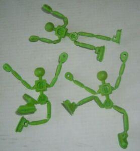 TOG'L Mattel BENDY BENDABLE Construction Set Togl Screw Robot Action Figure Lot