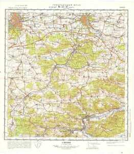 Russian Soviet Military Topographic Maps - ERFURT (Germany), 1:100K ...