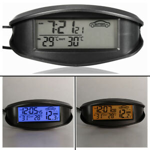UNIVERSALE-DIGITALE-LCD-TERMOMETRO-TEMPERATURA-OROLOGIO-BATTERIA-VOLTMETRO
