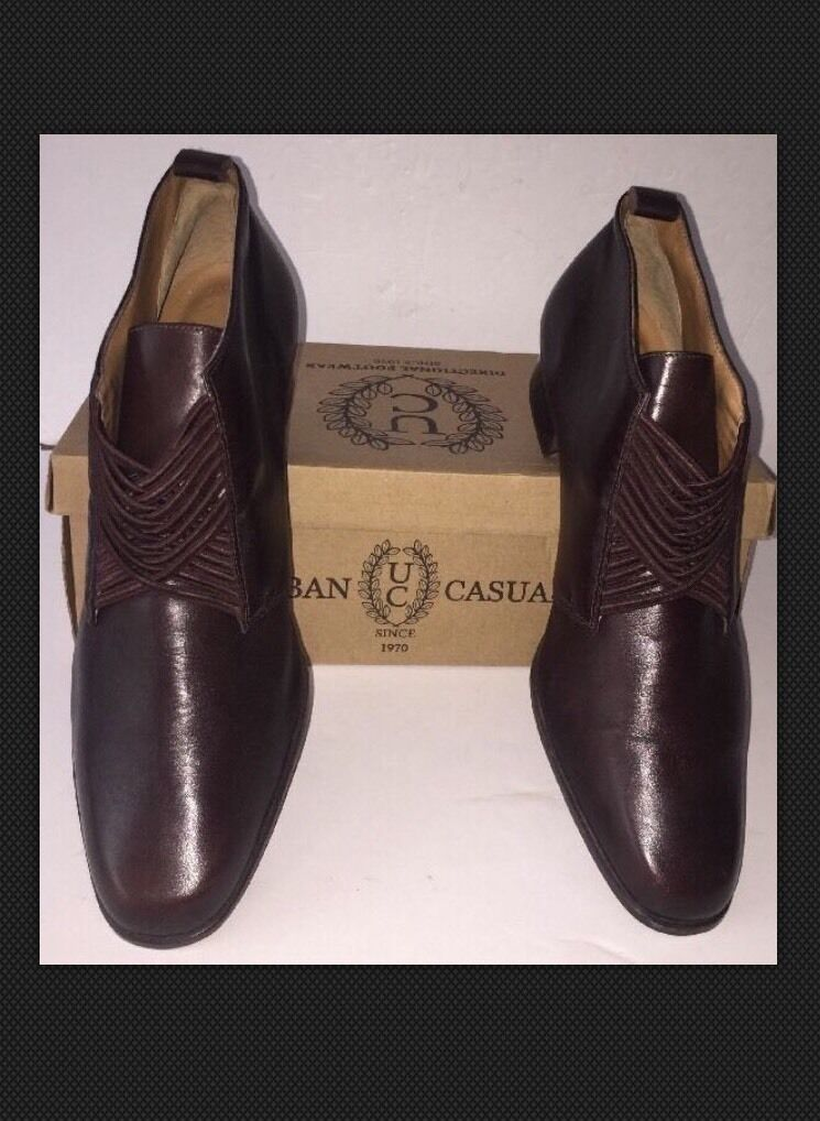 Mens Saxone Signify  size uk 10.5 Chocolate Brown leather Dress shoes