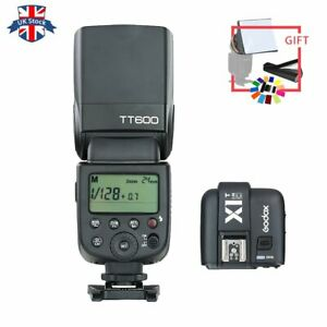 UK-Godox-GN60-2-4G-Wireless-Camera-Flash-Speedlite-With-X1T-C-Trigger-for-Canon