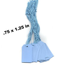 100 Blank Merchandise Price Tags Withstrings Small Light Blue Gift Tags Strung