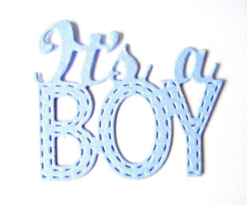 """Any Colour//Card! Cr 8 /""""It/'s a Boy/"""" Die Cuts New Baby Stitched"""