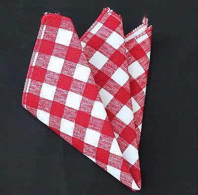 Hankie Pocket Square Cotton Handkerchief White /& Blue Square CH115