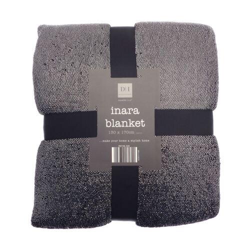 Country Club Inara Blanket Soft Foil Sequin Sparkle Sofa Throw 130 x 170cm
