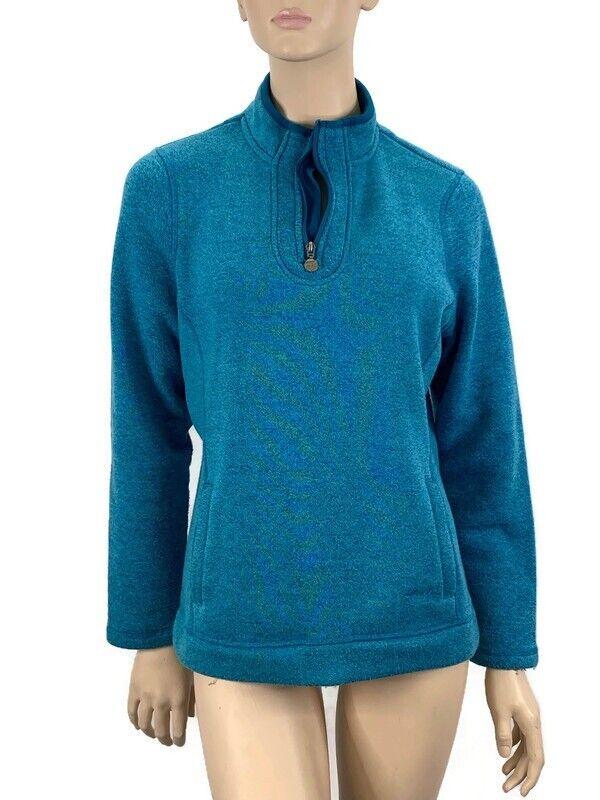 Weird Fish Sweatshirt 14 Womens Turquoise 1/4 Zip Jumper Sweat Top