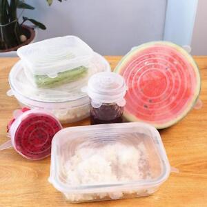 Chaleur-Resistant-Reutilisable-Extensible-Silicone-Couvercles-Food-Drape-Bol-Cas