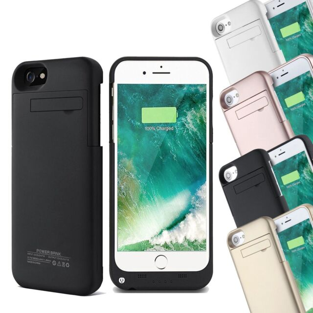 buy online 32ff8 baff0 External Battery Charger Power Bank Case For iPhone XS 6 7 & 8 Plus Backup  Cover