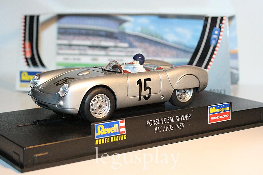 Slot Scalextric Revell 08363 Porsche 550 Spyder  15 Avus 1955