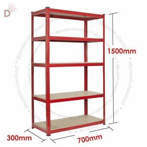 Heavy-Duty-Storage-Racking-5-Tier-Red-Shelving-Boltless-for-Garage-Workshop