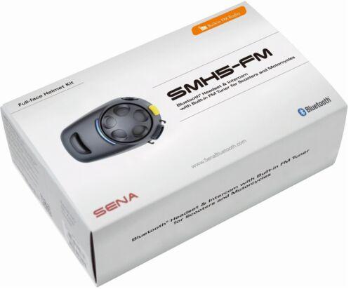 Sena smh5 FM Radio einzelset helmsprechanlage larga duración de la batería alto alcance