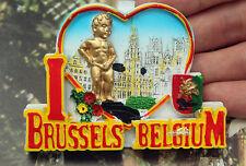 Belgien Brüssel Wahrzeichen Reiseandenken Souvenir 3D Kühlschrankmagnet Magnet