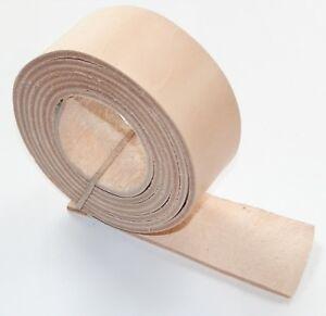 Cintura-in-pelle-bianchi-cinghie-2-5MM-spessore-naturale-Veg-Tan-155cm-60-pollici-di-lunghezza