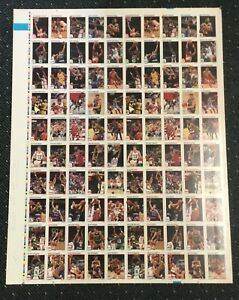 1991-92 Hoops 100 Card Skybox Factory Uncut Sheet Test Proof Rare!  Signed Off