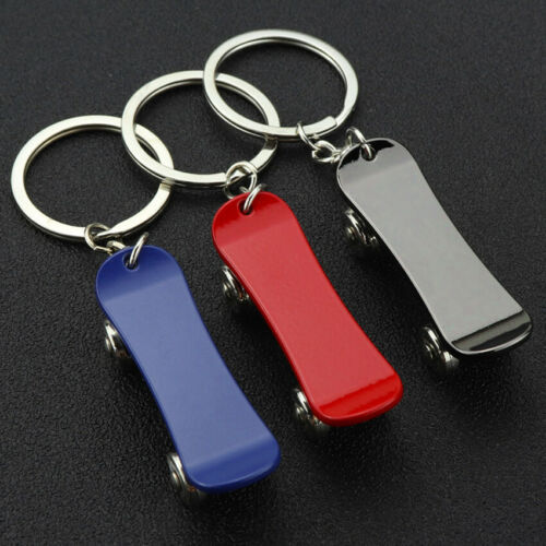 Skateboard Rotatable Metal Keychain Key Ring Accessories Pendant Gift Present