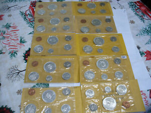 LOT-OF-10-1964-67-CANADA-SILVER-PROOF-LIKE-SETS-COINS-HIGH-GRADES-SEALED