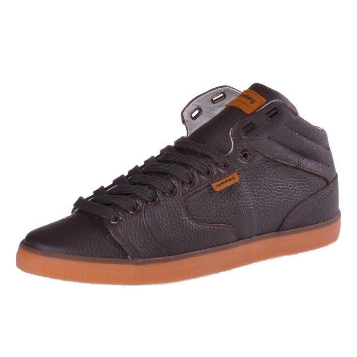 Supremebeing Pave Braun Braun Pave braun Leder Schuhe Sneaker 383885