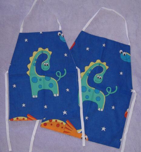 Enfant bleu dinosaures Cartoon tablier Âge 4-6 ou 6-8 ans