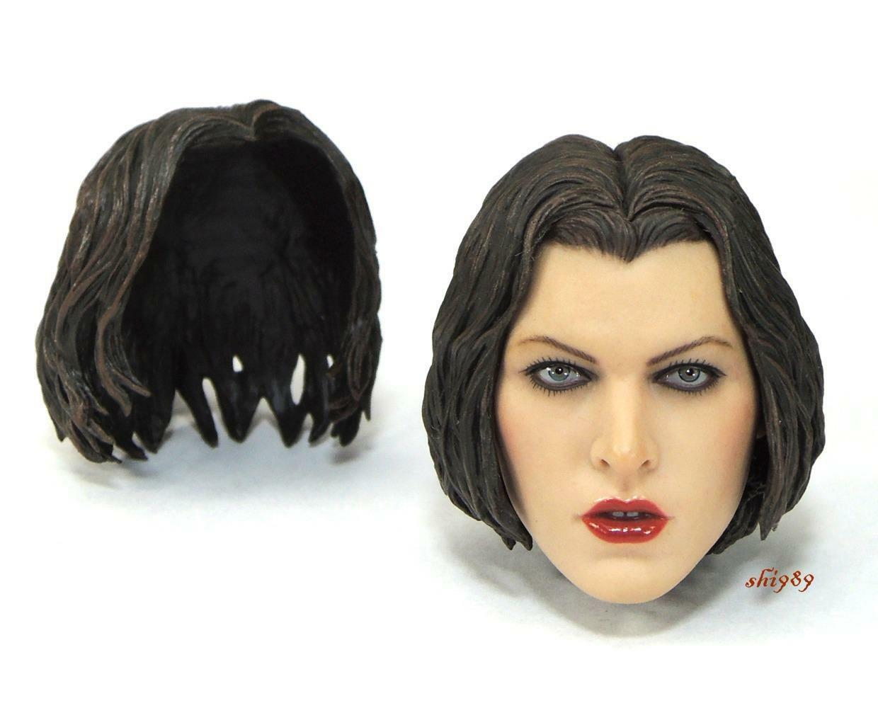 1 6 Scale Hot Toys MMS139 Resident Evil Afterlife Alice Head Sculpt ( Defect )
