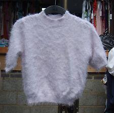 Atmosphere UK 8 Lovely Knitted Half Sleeve Fluffy Ultra Soft Pale Pink Jumper