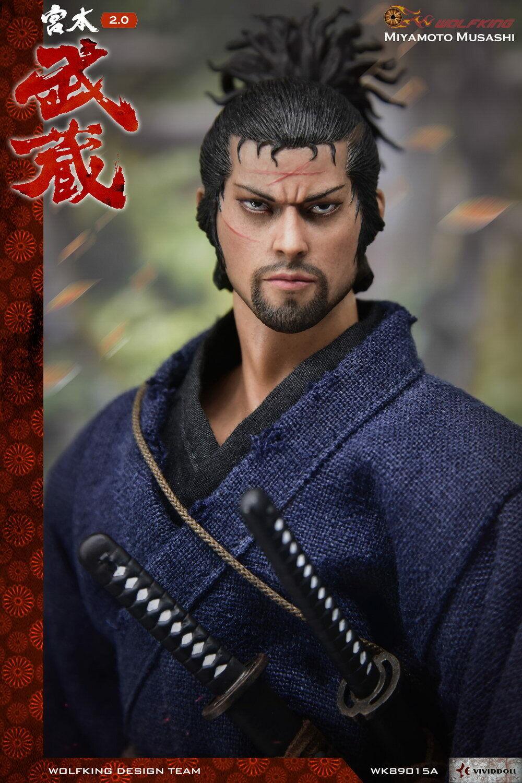 1 6 Miyamoto Musashi version standard WK89015A Japonais Samurai Modèle Jouet eau
