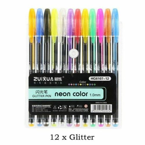 Gel Pens Set 48 Colors Glitter Gel Pen for Adult Coloring Books Journals Drawing