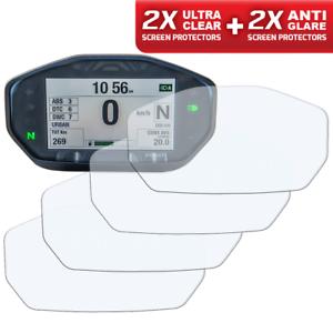DUCATI-MONSTER-797-821-1200-Screen-Protectors-2-x-Clear-amp-2-x-Anti-Glare