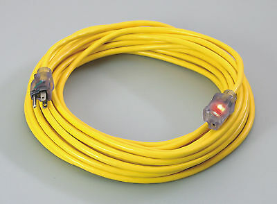 50' -or- 25' 16/3  SJTW Pro Power Lighted Extention Cords UL - Yellow