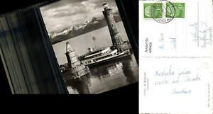 600428-Foto-Ak-Leuchtturm-Lindau-i-Bodensee-Hafeneinfahrt-Schiff-Dampfer