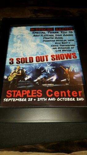 Depeche Mode Staples Center Rare Original Concert Promo Ad Framed!