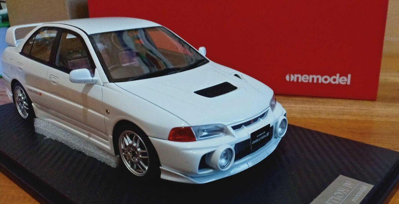 1 18 Onemodel Mitsubishi Lancer Evolution IV GSR White Resin Model