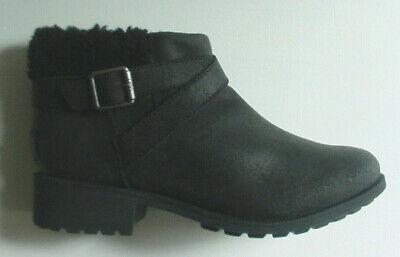 UGG WOMEN'S BENSON Bottines Noir Imperméable Laine Fourrure 1095151 Zip 6 10 NOUVEAU! | eBay