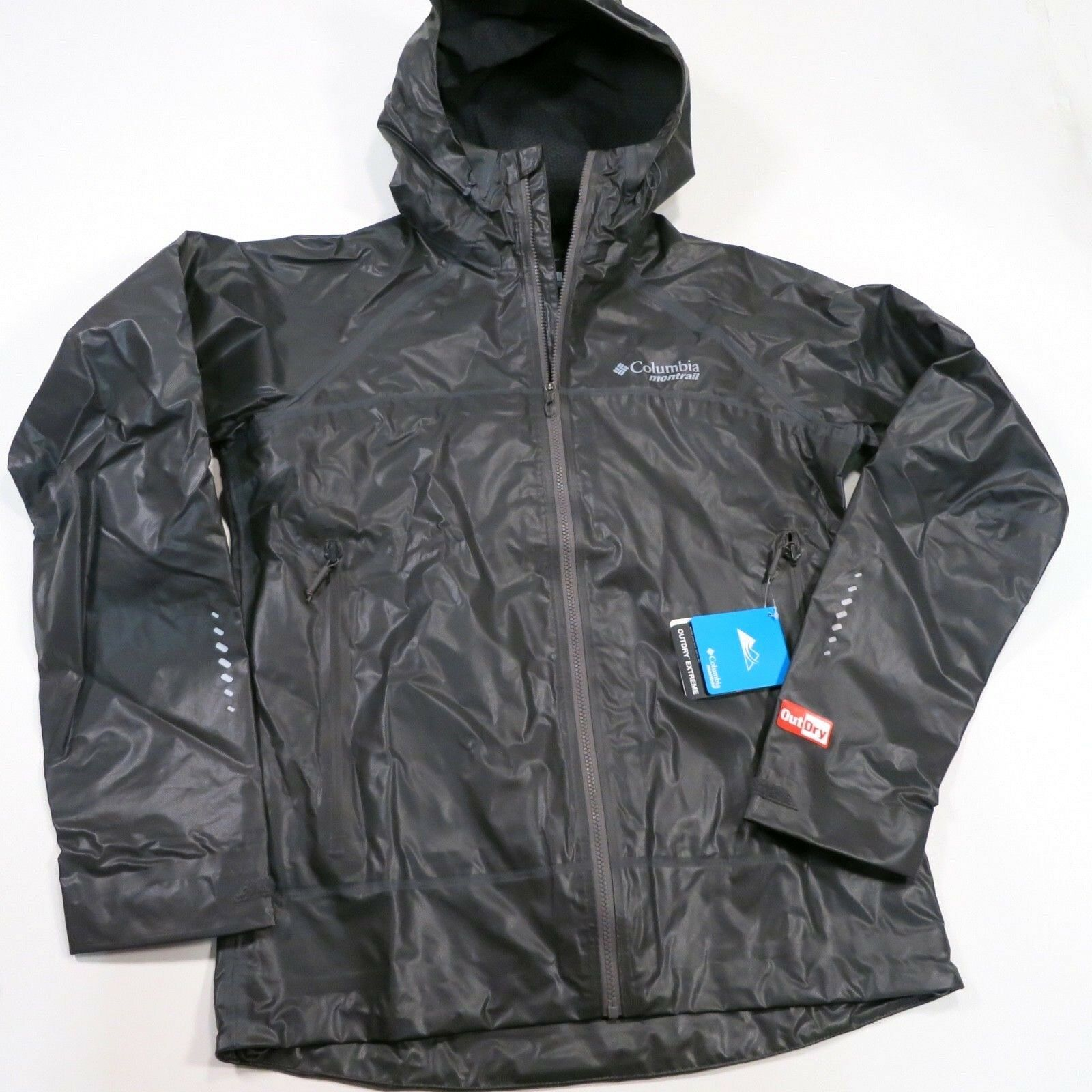 Columbia Men's Outdry Ex Light Shell Small Charcoal  NWT
