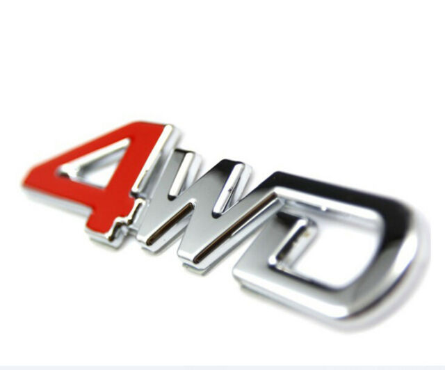 Car Auto SUV Sticker Silver Plating Metal Emblem 4WD 4 Wheel Drive Rear Trunk YX