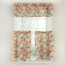 The Pioneer Woman Willow 3 Piece Kitchen Curtain Tier And Valance Set For Sale Online