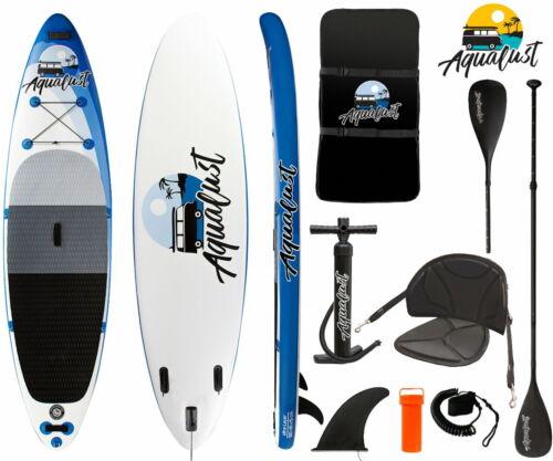 "AQUALUST 10/'6/"" SUP Board Stand Up Paddle Surf-Board Kajak Paddel Sitz 320x81cm"