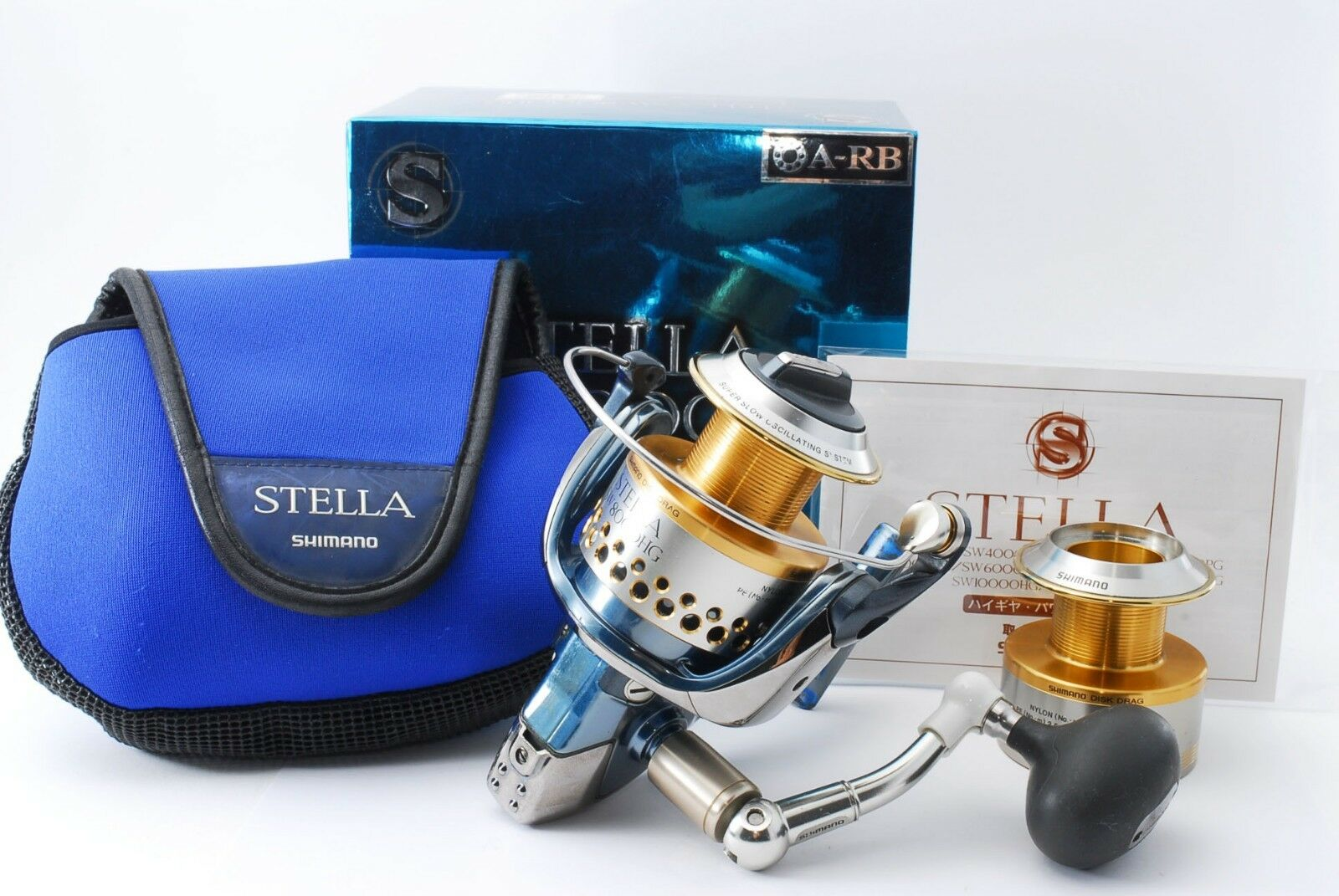 Excellent Shimano 01 Stella SW 8000HG Spinning Reel 388367