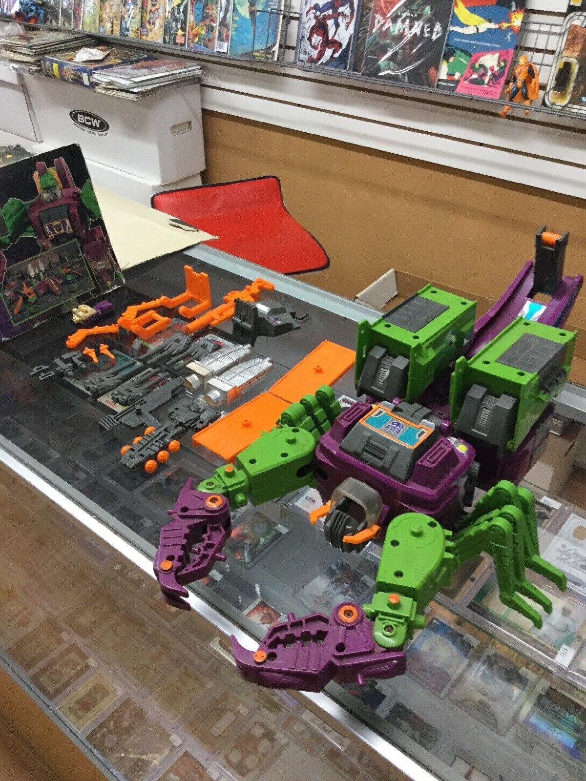 Figura De Acción Transformers Scorponok G1 director ciudad completa 1987 Caja