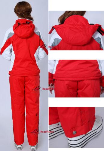 2018 Women/'s Winter Waterproof Coat Pants Ski Suits Jacket Snowboard Snowsuits