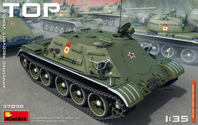 Miniart 37038 - Soviet TOP ARMOURED RECOVERY VEHICLE  - 1/35 scale model 171 mm